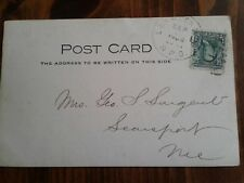 RPPC Postcard Railway Post Office Cancellation RPO Lancaster-Conway Concord?