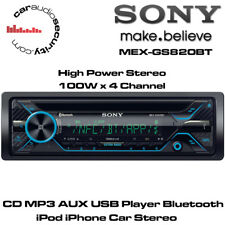Sony MEX-GS820BT - CD MP3 AUX USB Player Bluetooth iPod iPhone Car Stereo 4x100W