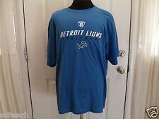 Brand New Blue Detroit Lions NFL Players Equipment Reebok T-Shirt