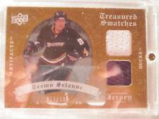 2008-09 UD Artifacts Hockey #TSD-TS Teemu Selanne! Treasured Swatch Jersey Ducks