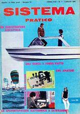 SISTEMA PRATICO Anno XIII  N .7 LUGLIO 1965 una barca a fondo piatto