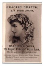 Blasius & Sons, Largest Piano and Organ House, Philadelphia Victorian Trade Card