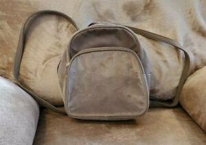 Grey Velvet Backpack NWOT Medium Size