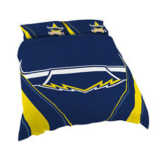 North QLD Queensland Cowboys NRL QUEEN Bed Quilt Doona Duvet Cover Set NEW 2018