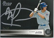 2012 Bowman Black Collection ALBERT ALMORA On-Card Autograph Auto #24/25