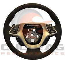 2014-2016 C7 Corvette Steering Wheel 7SPD Manual Black Suede Black Stitching