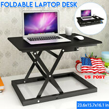 Foldable Laptop Table Sit & Stand Lap Lazy Sofa Bed Tray Notebook Desk Portable