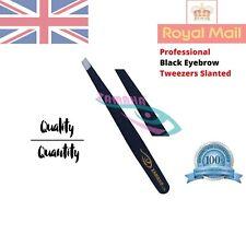 Professional Black Eyebrow Tweezers Hair Beauty Slanted Stainless Steel Tweezer