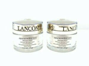 Lot/2 Lancome Absolue Night Premium Night Cream ~ .5 oz x 2 ~