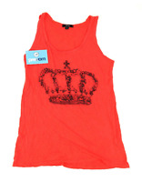 Therapy Womens Size 10 Graphic Red Crown Gems Top (Regular)