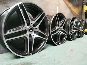 """Refurbished Genuine Mercedes AMG C Class W204 18"""" AMG Staggared Alloy Wheels"""