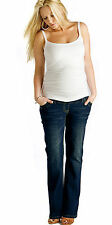 Indigo Maternity Bootcut Jeans, Pregnancy Over Bump Denims Short,Tall Plus Size