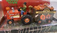Lemax Spooky Pumpkin Haul Countdown Day To Halloween Scarecrow Tractor Hay Wagon