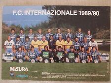CARTOLINA UFFICIALE CALCIO SQUADRA INTER FC. INTERNAZIONALE 1989/1990 SCUDETTATA