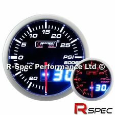 PROSPORT 52mm Dual Display Ambra/Bianco motore passo-passo Turbo Boost Gauge-PSI