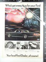 2) vintage ADVERTISEMENTS 1966 Ford Galaxie 500 & Mercury Comet Cyclone GT 390