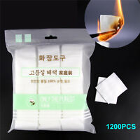 1200pcs Pure Cotton Pads Facial Makeup Cleaning Remover Cotton Puff Daily TRKUS
