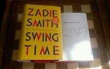 Tiempo de Swing exclusivo firmado Zadie Smith Tapa Dura 2016 1st Edition 1st impresión