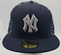 MLB NEW ERA 59FIFTY NEW YORK YANKEES Fitted Yellow Blue Cap Hat size 7 1/2 NEW