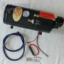150PSI DC 12V TRUCK PICKUP ON BOARD AIR COMPRESSOR AIR HORN WITH 3 LITER TANK