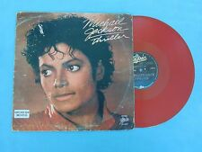 MICHAEL JACKSON THRILLER RARE MEXICAN RED VINYL MAXI SINGLE FROM THRILLER LP