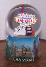 "NEW Resin Las Vegas Snow Globe 2"" x 2"" x 2 3/4"""