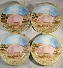 4 American Atelier Ol' McDONALD PIG ONLY PLATES