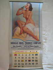 """Zoe Mozert Morning Song 1956 Calendar Vintage Original 11"""" x 23"""" VG+"""