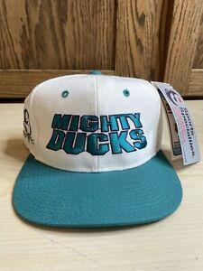 Mighty Ducks Snapback Sports Specialties Hat Vtg 90s Rare Center Ice Hockey NHL