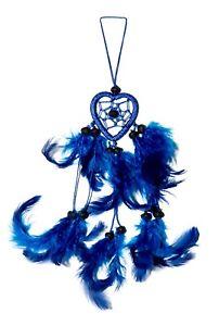 Traumfänger / Dreamcatcher - 25cm x 4cm - Blau - Herz