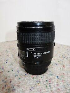 """Nikon AF Micro Nikkor 60mm 1:2.8 D Lens """" READ"""""""