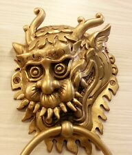 Brass Door DRAGON Figurine Handle Knocker Pull Vintage Hardware Home Decor Livin