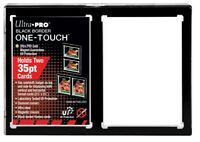 Ultra PRO 2-Card One-Touch 35pt Black Border Magnetic Card Display Holder UV