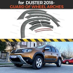 Wheel Arch Protection for New Dacia Duster 2 2018- plastic ABS with sensors body