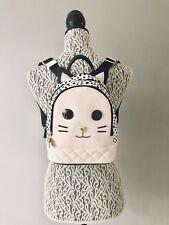 💋LUV Betsey® Johnson LBJazzy PVC Kitsch Mini Leopard Kitty Cat Backpack - Blush