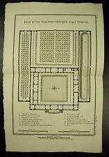 Plan d'une palestre grecque Greek house circa 1790 d'après Vitruve