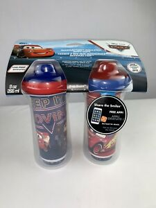 12m+ Disney Pixar Cars Insulated Sippy Cup 9 Oz Baby Cup 2pk New