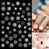 Nail Art selbstklebende Weihnachten Sticker Schneeflocke Rentier  Decals