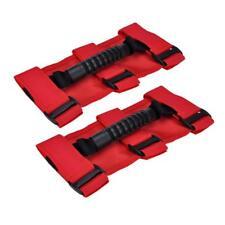 Red Roll Bar Grab Grip Handle Handles Pair For Jeep Wrangler JK YJ TJ Off Road