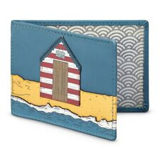 Soft Leather Beach Hut Travel Pass / Oyster Card Holder by Yoshi - SPECIAL OFFER