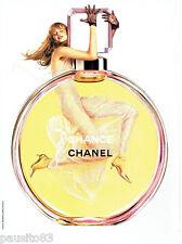 PUBLICITE ADVERTISING 026  2004  Chanel   parfum femme CHANCE
