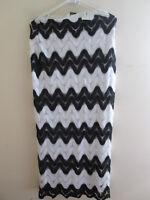 Gantos Women's Evening Casual Party Long Maxi Dress Skirt White Black Size S New