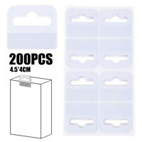 200pcs PVC Slot Hole Adhesive Hang Tabs Hook For Store Retail Display 4.5*4cm