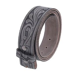 Gelante FULL GRAIN Genuine Leather Belt Strap without Buckle UNISEX BELT