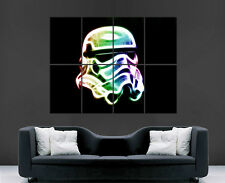 STAR WARS STORMTROOPER POSTER NEON COLOURS MOVIE TV FILM ART PICTURE PRINT