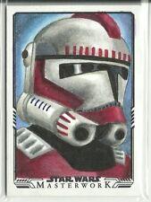Star Wars Masterwork Logo Variation Sketch Card Shock Trooper by Kyle Newman