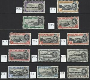 ASCENSION 1938/49 KG6 Pictorial Values to 1/- (13) Used/CTO