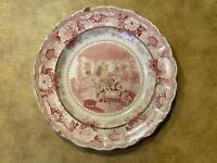 Antique Staffordshire Barlow Transfer Ware Plate Chinese Juvenile Sports