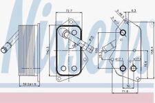 Nissens 90689 Enfriador de aceite BMW X5 E70 07
