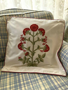 Pottery Barn Decorative Embroidered Pillow Cover